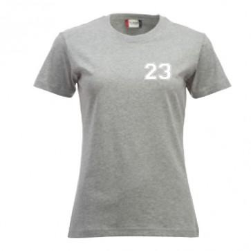 T-shirt Gris Coupe Femme
