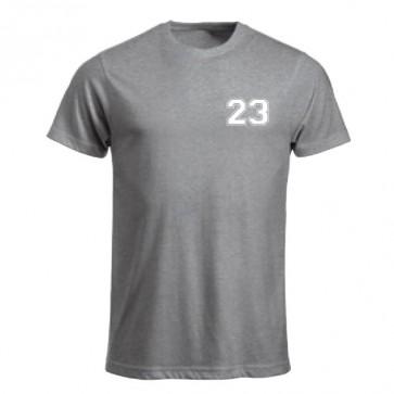 T-shirt Gris Coupe Unisexe