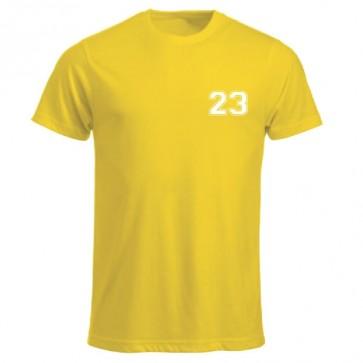 T-shirt Jaune Coupe Unisexe