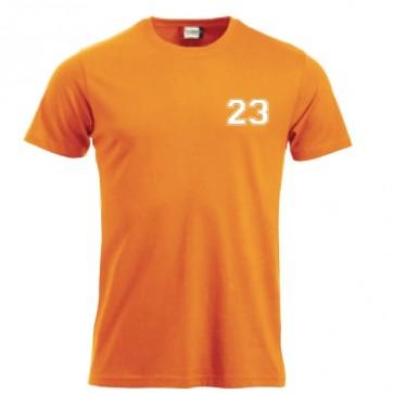 T-shirt Orange Coupe Unisexe