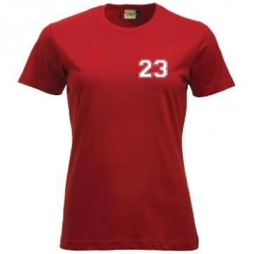 T-shirt Rouge Coupe Femme Petit Logo