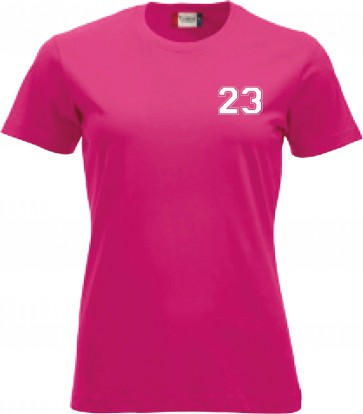 T-shirt Rose Coupe Femme