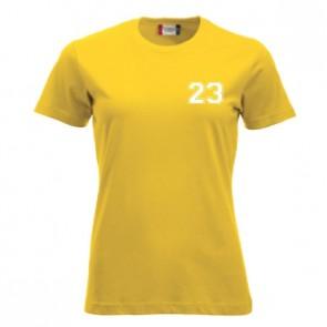 T-shirt Jaune Coupe Femme