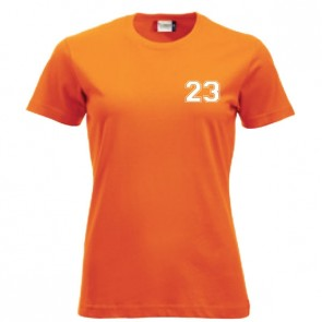 T-shirt Orange Coupe Femme