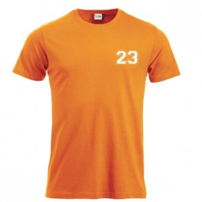T-shirt Orange Coupe Unisexe