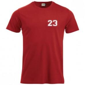 T-shirt Rouge Coupe Unisexe Petit Logo