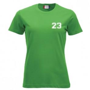 T-shirt Vert Coupe Femme