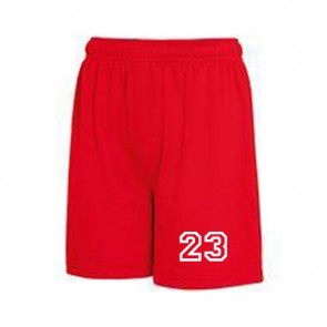 Short sport Rouge
